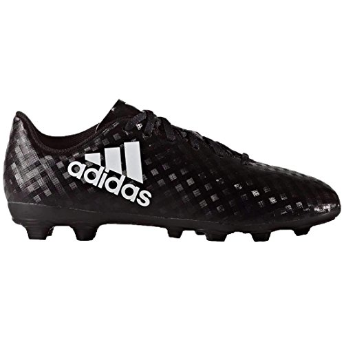 adidas Junior X 16.4 FG Soccer Cleats (1.5, Core Black/White)