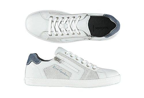 Uomo Nero Pelle Sneakers Bianca Giardini P704960U 707 Scarpe SwraAwqEx