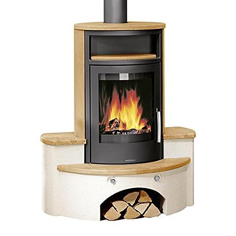 Orange de la chimenea de Cascade 6.5 kW de carbón de horno ...