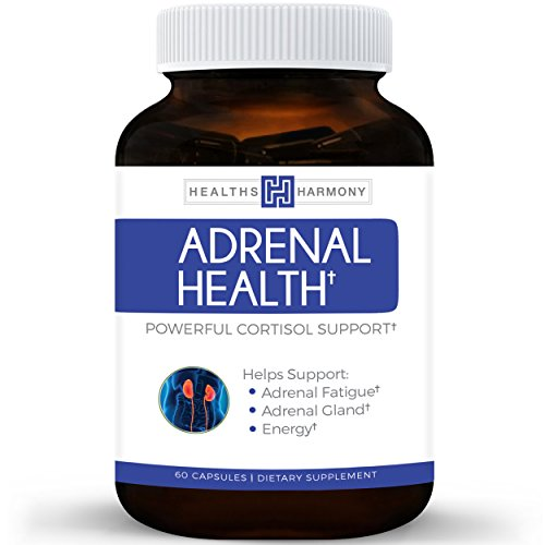 [Best Adrenal Support - Comprehensive Adrenal Health with Adrenal Powder, L-Tyrosine & More - Helps maintain Balanced Cortisol Levels - Helps Stress Relief - Fatigue Manger Supplement - 60 Capsules] (Fruit Extract 60 Caps)