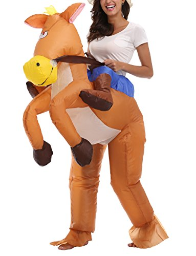 Jane's CUTLE Inflatable Blow Up Rider Costumes Funny Animal Halloween Party Fancy Dress for Adults, Donkey