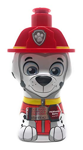 (Paw Patrol 3-in-1 Body Wash, Shampoo and Conditioner - Marshall, Pawsome Berry, 1.2 Pound)