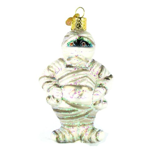 Old World Christmas Mummy Glass Blown Ornament (Glass Ornament Halloween)
