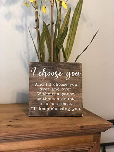 Cartel de Madera con Texto en inglés «I Choose You» para ...