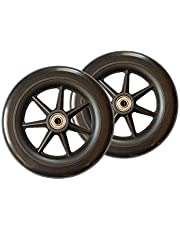 Stander Replacement 6-inch Walker Wheels, Compatible with the EZ Fold-N-Go Walker and the Able Life Space Saver Walker, Black, Set of 2