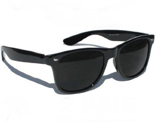 Lunettes de soleil style Wayfarer retro vintage 80 S - Monture noir - Verre  noir - Fashion tendance  Amazon.fr  Sports et Loisirs 559c8d03a77f