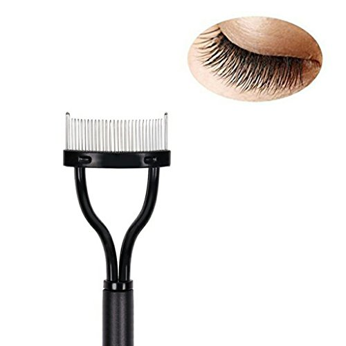 Eyelash Comb Curler Eyebrow Brush MSQ Mascara Applicator Eyelash Eye Brow Definer With Comb Cover Arc Designed Cosmetic Brushes ()