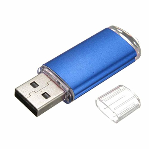 Aribelly USB 2.0 Metal Flash Memory Stick Storage Thumb U Disk 1gb/2gb/4gb/8gb/16gb/32gb (Blue, 2GB)