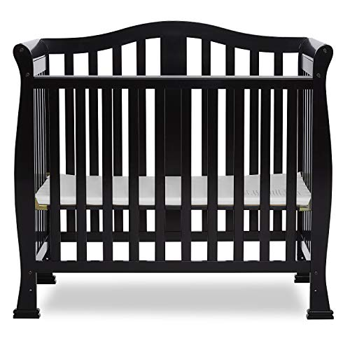 Dream On Me Addison 4 in 1 Convertible Mini Crib, Black