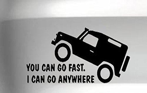 You Can Go Fast Style 2 Safety Car Vinyl Decal Vinyl Decal Jdm 4x4 Funny, Silver, 18 Inch, Die Cut Vinyl Decal For Windows, Cars, Trucks, Tool Box, Laptops, Macbook- Virtually Any Hard by Titans unique design