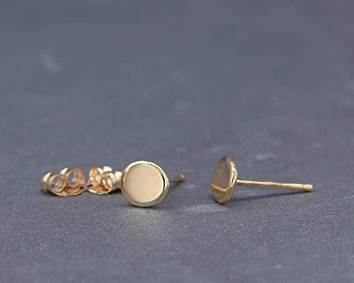 14K Gold Organic Stud Earrings   Handmade solid 14k gold nuggets earrings in polished style 4mm 5mm 6mm 7mm Stud Earrings