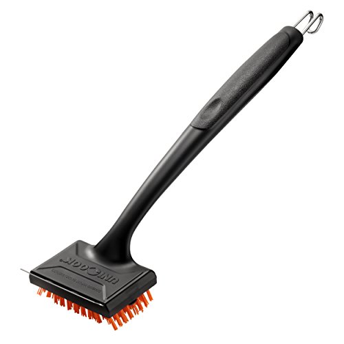 UNICOOK Outdoor Grill Brush, Heavy Duty Safe Nylon BBQ Brush Cleaner, Removable Head for Easy Cleaning and Replacement, Best Alternative to Dangerous Wire Brush, Do Not Use on Hot/Warm Surface ()