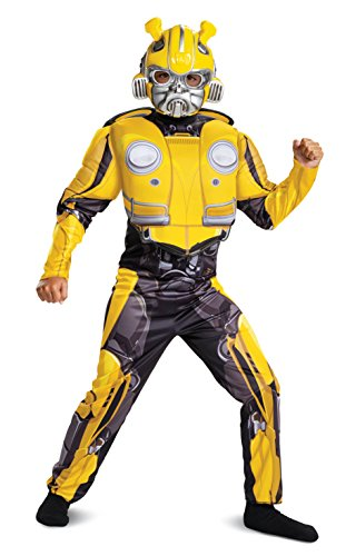 Disguise Bumblebee Classic Muscle Child Costume, Yellow, Size/(4-6) (Toys Boys Transformers)
