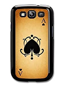 AMAF ? Accessories Ace of Hearts Card print case for Samsung Galaxy S3