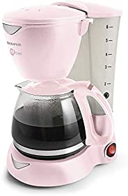 TAURUS + FUNDACIÓN CIMA C6T EDICIÓN RIBBON Cafetera con Filtro Permanente y jarra de 800 ml de Capacidad, Rosa