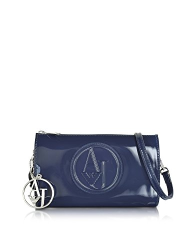 ARMANI JEANS WOMEN'S 928582CC85000335 BLUE PVC SHOULDER (Armani Shoulder Bag)