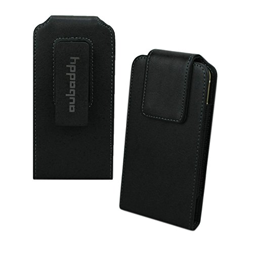 aubaddy Leather Case 360 Degrees Swivel Belt Clip Holster for iPhone 6/6S/7/8 - 4.7 inch (Black) (360 Degree Swivel Clip)