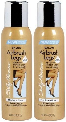 Sally Hansen Airbush Sun Self-Tanner for Legs-Medium Glow-4.4oz, 2 pack