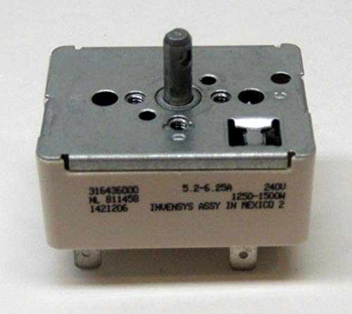 New 316436000 Range Stove Element Burner Switch for Frigidaire AP3890378 PS1145039 ()