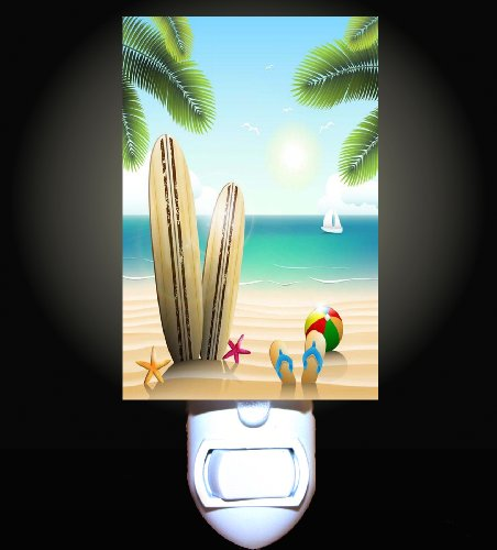Summer Surfboard Beach Decorative Night Light