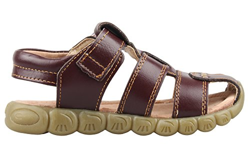 Image of SKOEX Boy's Leather Closed Toe Outdoor Sport Sandal (Toddler/Little Kid)