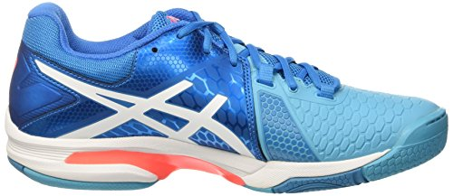 Asics Coral Mujer Balonmano Flash Para Gel Zapatillas Blu Blast de W White Blue Jewel 7 TF4ZwTx