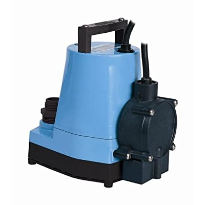 Little Giant 505300 1/6 HP 115V 1200 GPH Submersible Utility Pump with Piggyback,