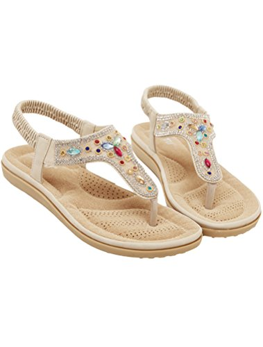 Albicocca 3 Donne Stile Nuove A Piatto Vogstyle Tacco Scarpe Sandali Bohemian Stile Pantofole 67xqPSWp