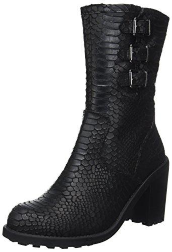 CHATTAWAK Damen Mylene Biker Boots Noir (C.Noir)