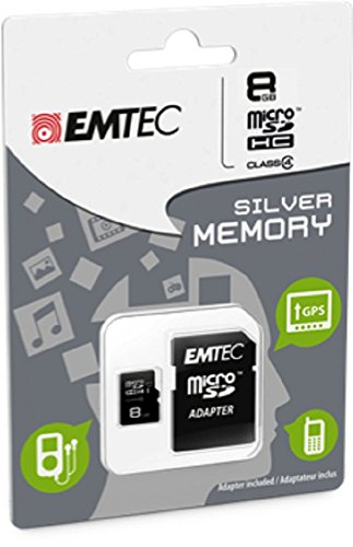 EMTEC 8 GB Class 4 Mini Jumbo Super MicroSDHC Memory Card with Adapter