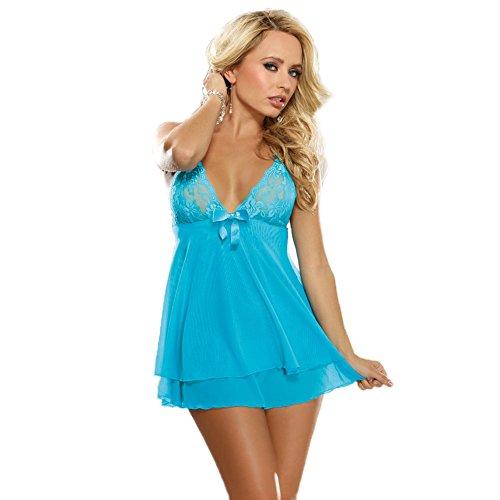SUNSHINEGOLingerie-Sets-Plus-Size-Sexy-Babydoll-Lace-Pajamassleepwear