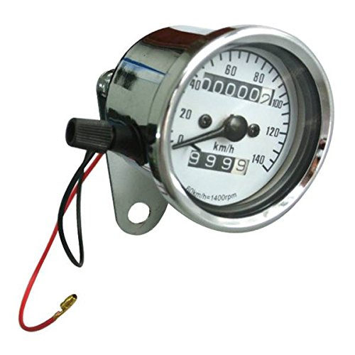 Generic Universal Gauge Motorcycle Dual Odometer Speedometer Tester Miles Speed Meter by JRL