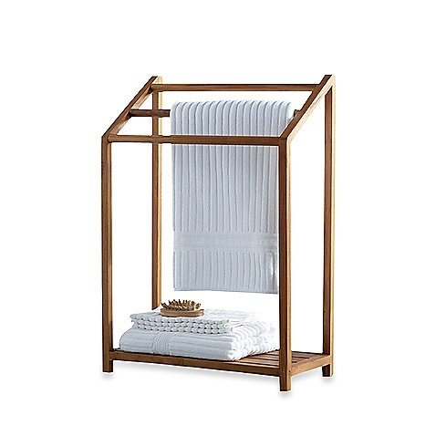 The Original Sula Versatile Teak Towel Rack (Outdoor Spa And Pool Towel Rack compare prices)