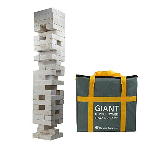 Hammer Crown Giant Tumble Tower White Distressed Finish; with Free Bonus Block Bottle Opener