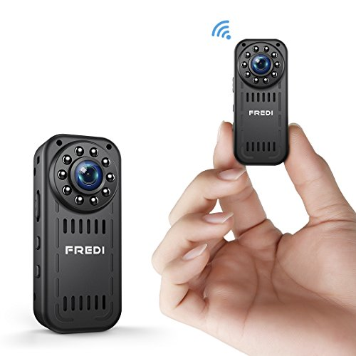 FREDI Wireless WiFi Hidden spy Camera 1080P Security Camera for Baby/Elder/Pet/Nanny Monitor with Audio & Night Vision