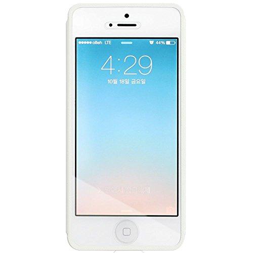 FENICE mo22wh00apip5s Touch View Étui pour Apple iPhone 5/5S/5C/Blanc