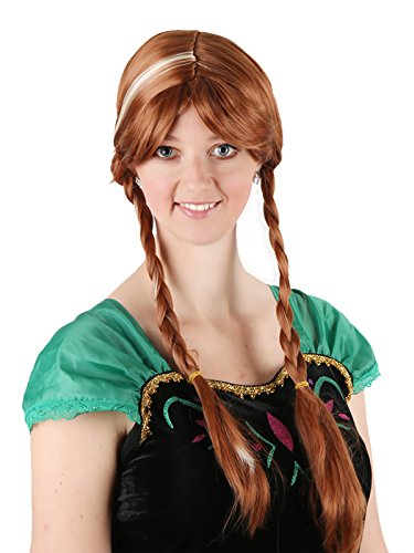 Anime Anna Elsa Cosplay Wigs Blonde Brown Long Braid for Women Cosplay Party Wigs Braid Wigs Heat Resistant Synthetic Wigs (Anna Wig Adult)