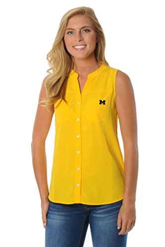 NCAA Michigan Wolverines Women's Tunic Tank Top, X-Large, Gold (Michigan Wolverines Clothing)
