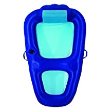 Fabric Recliner Inflatable Pool Lounge in Blue by Aqua Leisure
