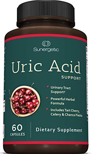 Premium Uric Acid Support Supplement – Uric Acid Cleanse & Kidney Support – Includes Tart Cherry, Chanca Piedra, Celery Extract & Cranberry - Uric Acid Support Formula – 60 Veggie Capsules