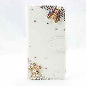 piaopiao 3d bling fashion leather wallet card flip Case Cover Skin For sony Xperia L S36h C2104 C2105 (peacock mini)