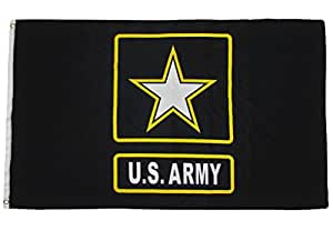 Bandera de ejército de los Estados Unidos nosotros estrella EE. UU. Banner Pennant Militar 3x 5Premium (RAM) colores vivos y ultravioleta resistente a la decoloración–cabecera y poliéster MATERIAL