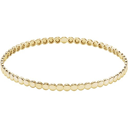 C.Hersh Women's 14k Yellow Gold Solid Bangle Bracelet - 7.75 x 0.149 inches