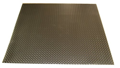 Rhino Mats SBD-424-3660 Diamond Plate Pattern Rubber Insulating Switchboard Mat, 3' Width x 5' Length x 1/4