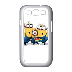 Samsung Galaxy S3 I9300 2D PersonMinionszed Phone Back Case with Minions Image