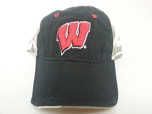New Wisconsin Badgers Black & Camo Buckle Hat ()