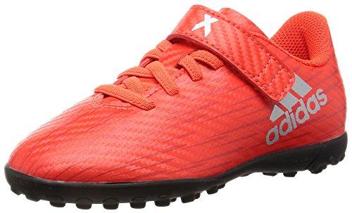 adidas Jungen X 16.4 TF J H&l Fu&SzligBallschuhe Arancione (Solar Red/Silver Metallic/Hi-Res Red)