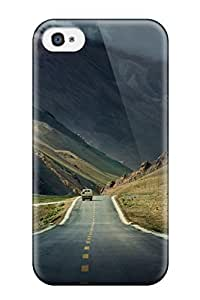 Hot Tpu Cover Case For Iphone/ 4/4s Case Cover Skin - Road In Tibet