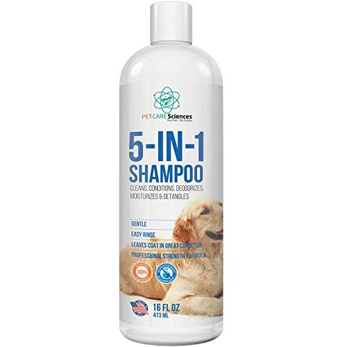 PET CARE Sciences Dog Shampoo, Naturally Derived Dog and Puppy Shampoo and Conditioner, 5 in 1 Formula with Coconut…