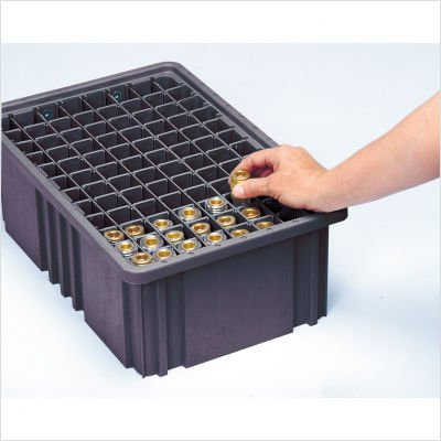 Conductive Dividable Grid Storage Container Short Dividers for DG92060CO [Set of 6]